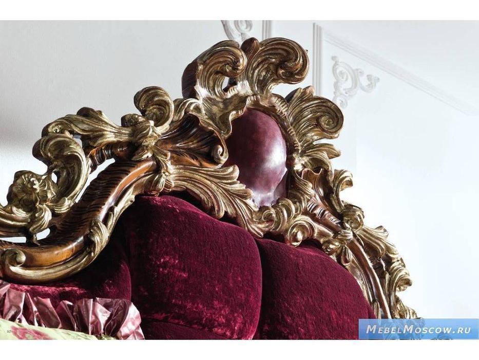 Rampoldi: Infiniti Flair: кровать 180х200  ткань (орех, состаренное золото)