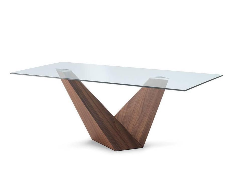Idealsedia: Arica: стол обеденный (орех, стекло)