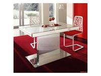 Idealsedia: Natal: стол обеденный раскладной  (белый) стекло