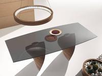 Idealsedia: Charlotte 2: стол обеденный (орех, стекло)
