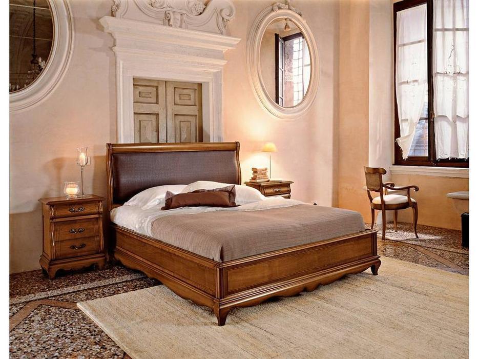 Cavio: Madeira Intarsio: кровать 160х200 Мадейра с интарсией и низ.изн.  (черешня)