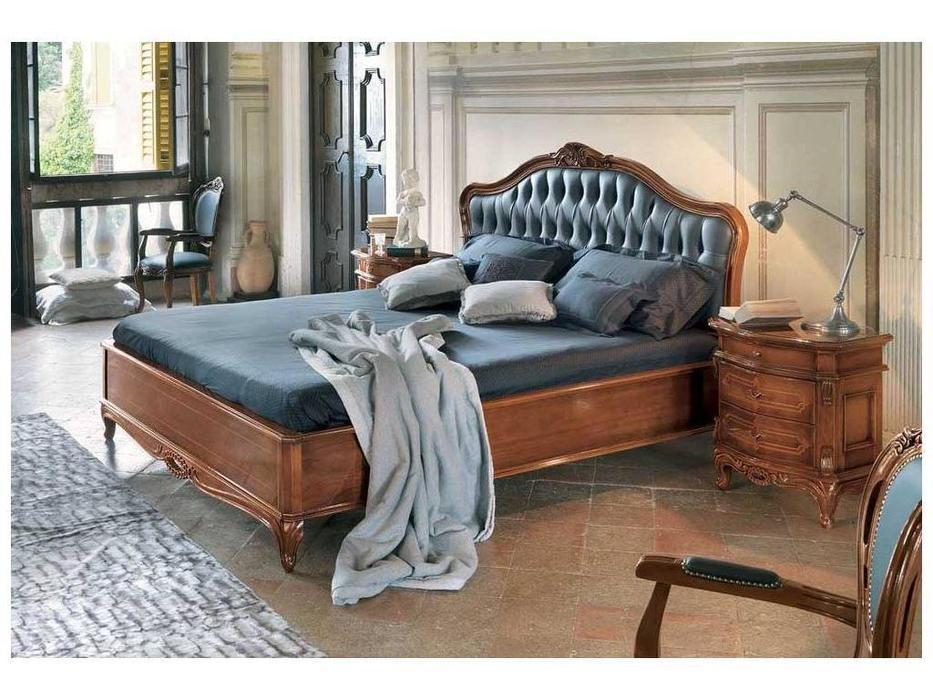 Cavio: Idogi: кровать 180х200 Идоджи изголовье кожа черная  (черешня)