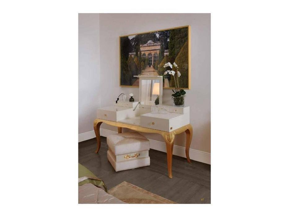 Cavio: Verona: стол туалетный   (белый, золото)