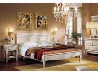 Cavio: Франческа: кровать 180х200 с низ. изн.  (crema)