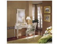 Cavio: Франческа: зеркало для туалетного столика+3 ящика  (crema)