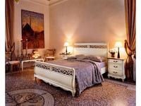 Cavio: Madeira: кровать 160х200 с выс. изножьем  (белый патинированный)