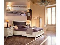 Cavio: Madeira: кровать 180х200 с низ. изножьем  (белый патинированный)