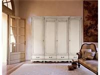 Cavio: Madeira: шкаф 4-х дверный, 4 ящика  (белый лак, серебро)