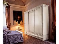 Cavio: Madeira: шкаф-купе 3-х дверный, 3 ящика  (белый лак, серебро)