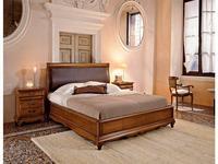 Cavio: Madeira Intarsio: кровать 180х200 Мадейра кож.изг.и низ.изн.  (черешня)