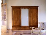 Cavio: Madeira Intarsio: шкаф 4-х дверный Мадейра с мат стеклом, 4 ящика  (черешня мадейра)