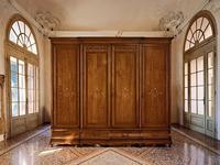 Cavio: Madeira Intarsio: шкаф 4-х дверный Мадейра 4 ящика  (черешня мадейра)