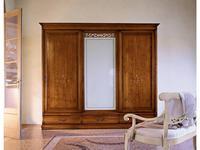Cavio: Madeira Intarsio: шкаф-купе 3 двери Мадейра 3 ящика, с мат.стеклом  (черешня мадейра)