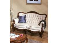 Simex: Regallis: диван 2-х местный  ткань (орех, беж)