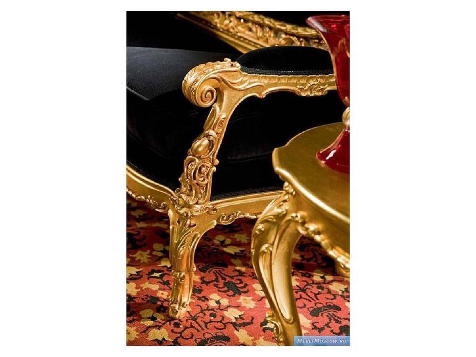 Silik: Dedalo: диван 3-х местный  ткань (черный, золото)