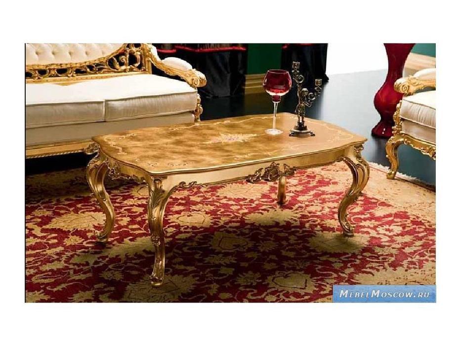 Silik: Dedalo: стол журнальный центральный  (золото)
