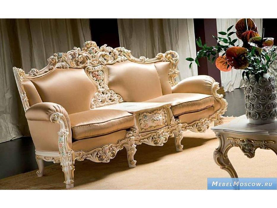 Silik: Eolo: диван 2-х местный со встроенным столиком  (кремовый, слоновая кость)
