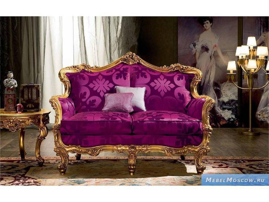 Silik: Omero: диван 2-х местный  (розовый, золото)