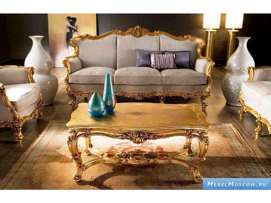 Silik: Omero: стол журнальный центральный  (золото)