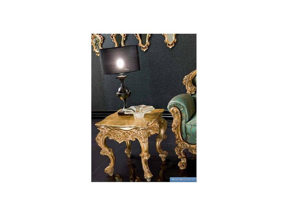 Silik: Plutone: стол журнальный квадратный  (золото)