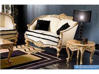 Silik: Adone: диван 2-х местный  (бежевый, золото)