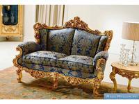 Silik: Eolo: диван 2-х местный  (синий, золото)