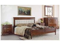 Monte Cristo: Maria Silva: кровать 160х200  (noce chiaro, PORTOFINO PANNA)