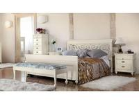 Monte Cristo: Bourbon: кровать 160х200  (bianco zucchero patinato)