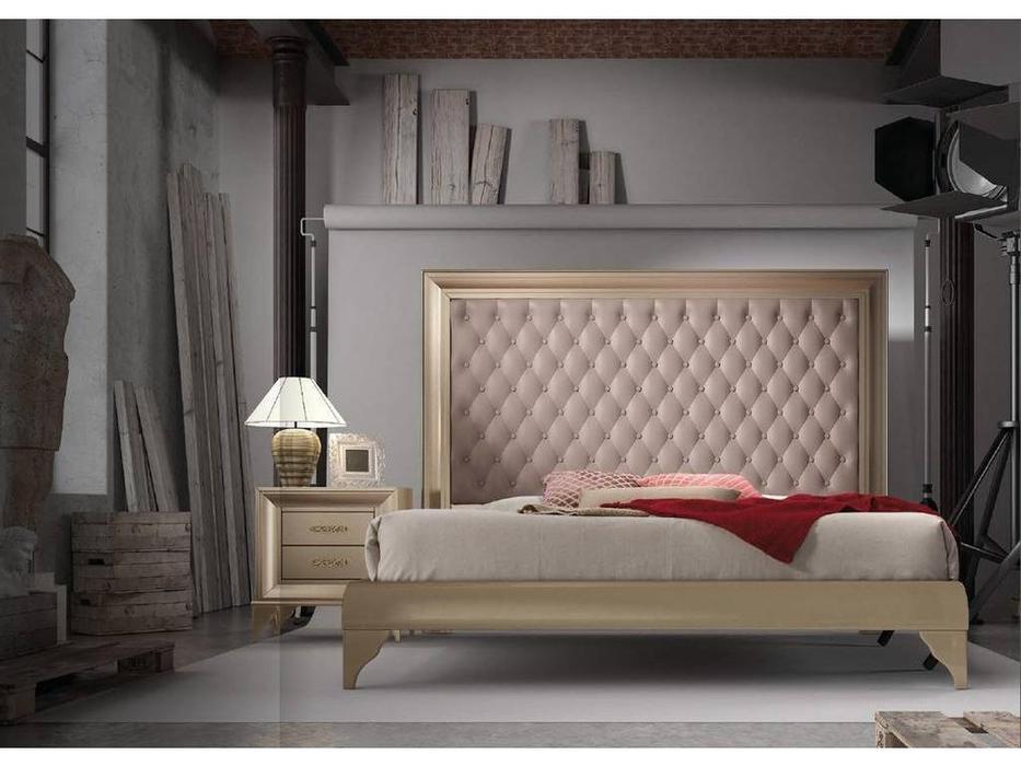 Mugali: Emocion: кровать 180х200  (бежевый лак)