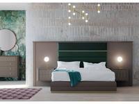 Mugali: Maria: кровать 180х200 с под-м мех-м, с тумбами (бежевый)