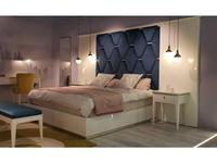 Mugali: Maria: кровать 180х200 с широким изголовьем (белый, синий)