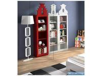 Coim: Amarcord: шкаф книжный Amsterdam 2  (красный)