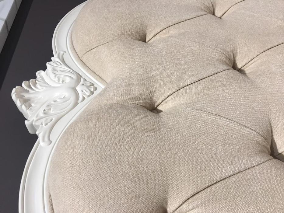 Brevio Salotti: Franca: кровать 160х200  (молочно белый)