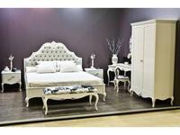 Brevio Salotti: Franca: кровать 180х200  (молочно-белый)