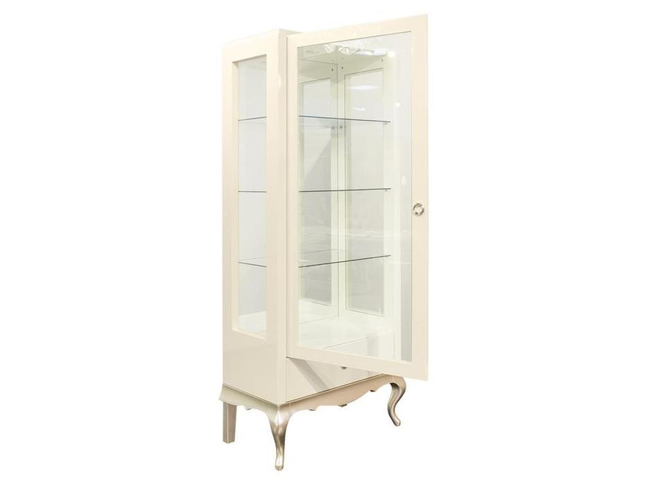 Fratelli Barri: Venezia: витрина 1 дверная левая  (кремовый лак, серебро)