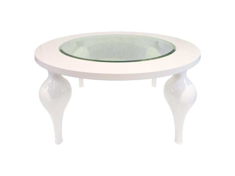 Fratelli Barri: Palermo: стол обеденный  круглый (белый блестящий лак)