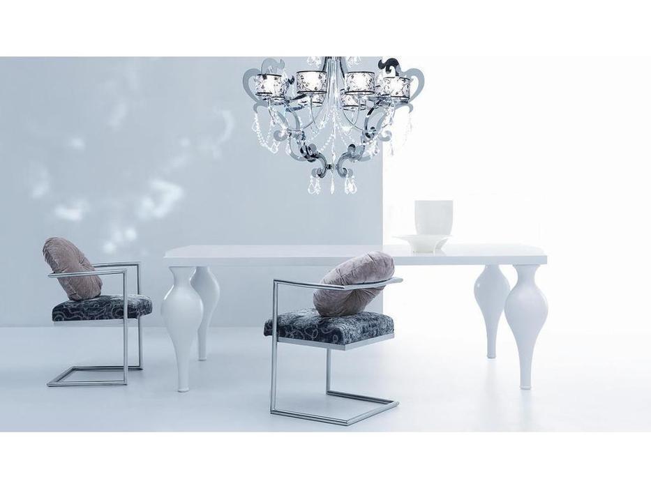 Fratelli Barri: Palermo: стол обеденный  (белый блестящий лак)