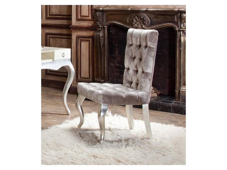 Fratelli Barri: Venezia: стул  (серебро, бежевый велюр)