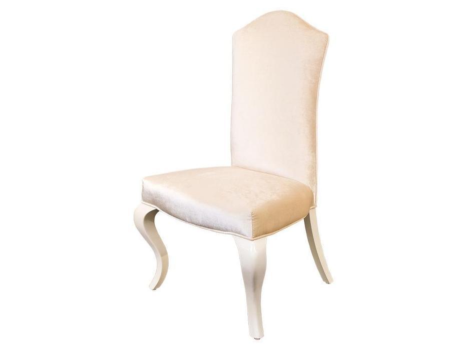 Fratelli Barri: Roma: стул  (белый лак, велюр)