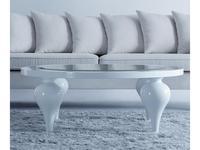 Fratelli Barri: Palermo: стол журнальный  (белый блестящий лак)