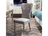 Fratelli Barri: Rimini: стул  серебристо серый велюр (серебро)