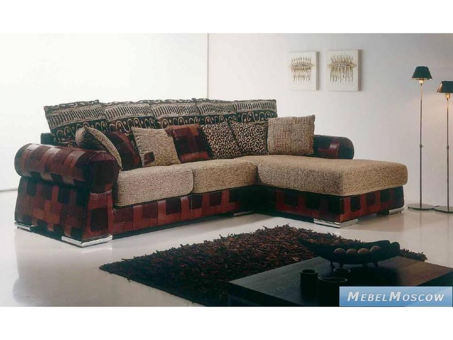 M.Soria: Aneto: диван с оттоманкой трехместный кожа