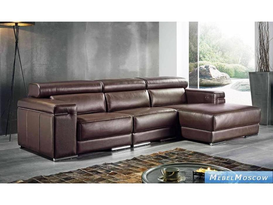 M.Soria: Dublin: диван с оттоманкой трехместный кожа