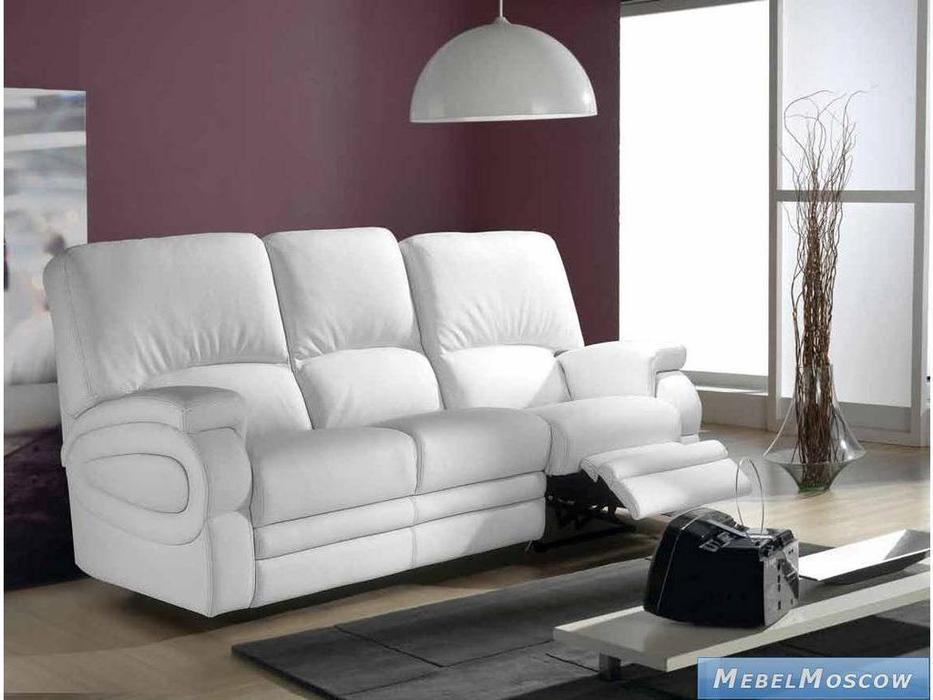 M.Soria: Karina: диван трехместный с реклайнером кожа