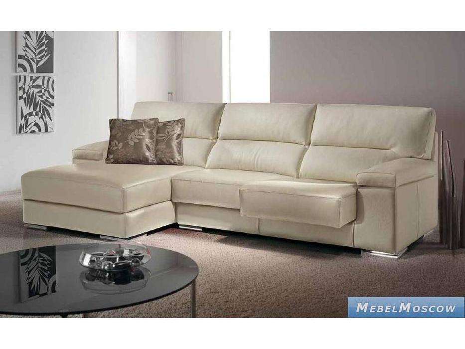 M.Soria: Modena: диван с оттоманкой трехместный кожа