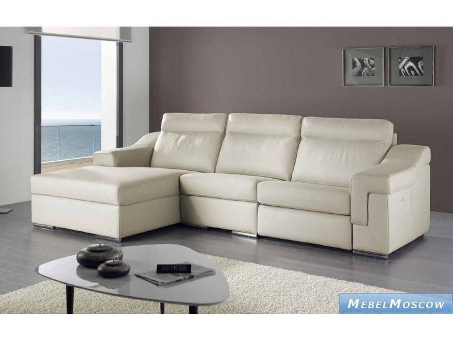 M.Soria: Niza: диван с оттоманкой трехместный кожа
