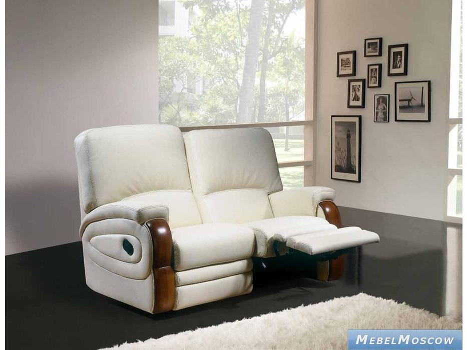 M.Soria: Estoril: диван двухместный с реклайнером кожа
