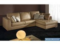 M.Soria: Calipso: диван с оттоманкой трехместный кожа