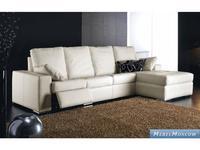 M.Soria: Carolina: диван с оттоманкой четырехместный с реклайнером кожа