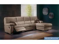 M.Soria: Lara: диван с оттоманкой четырехместный с реклайнером кожа